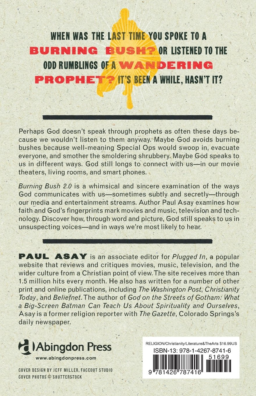 Burning Bush 20: How Pop Culture Replaced The Prophet: Paul Asay:  9781426787416: Amazon: Books