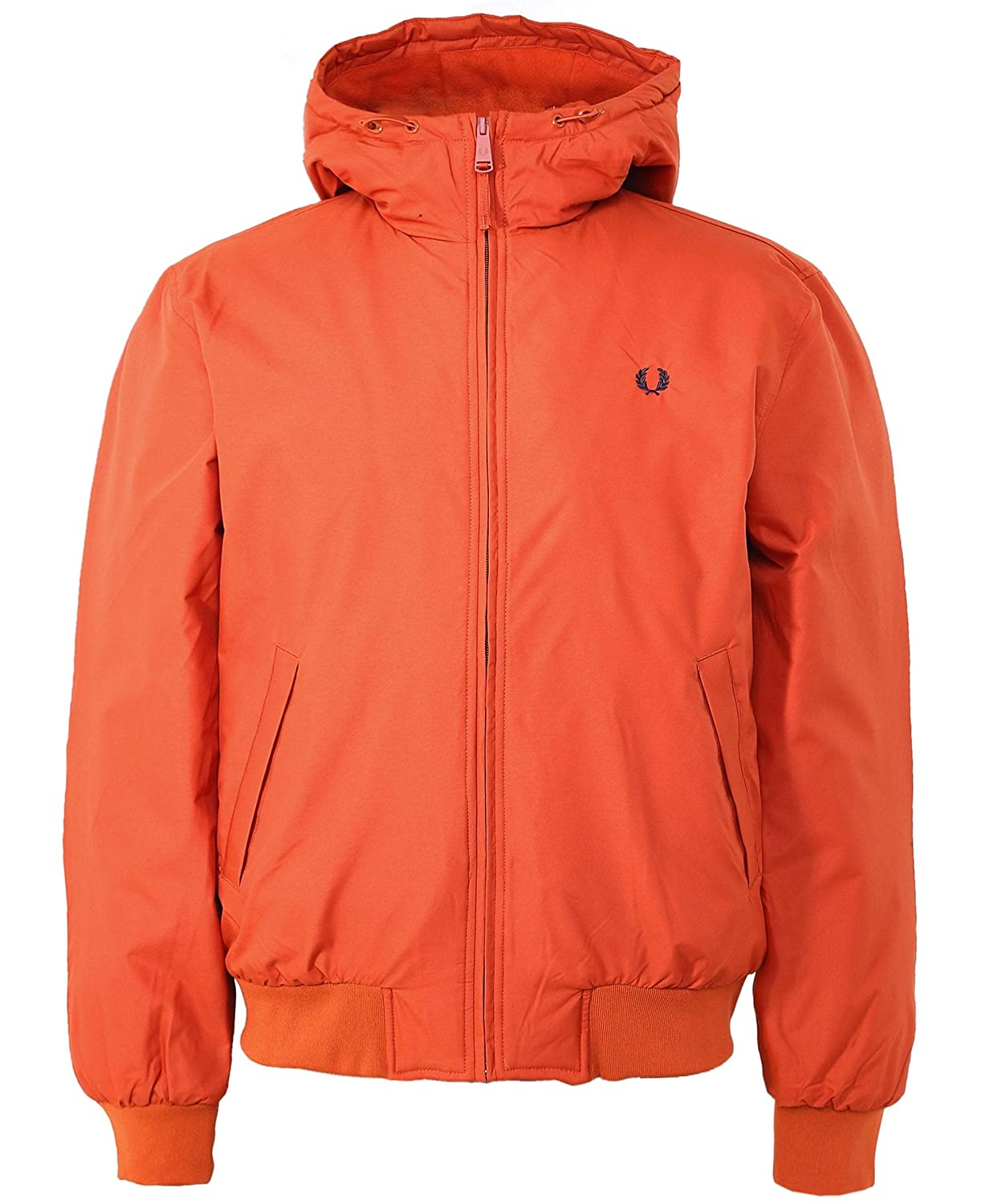 Fred Perry Mens Hooded Padded Brentham Jacket Paprika