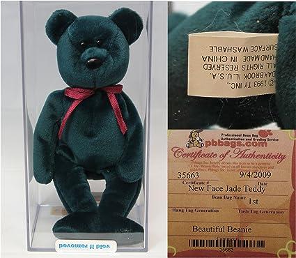 2bcb9993f40 Amazon.com  Ty Teddy NF Jade Authenticated - Rare Mint