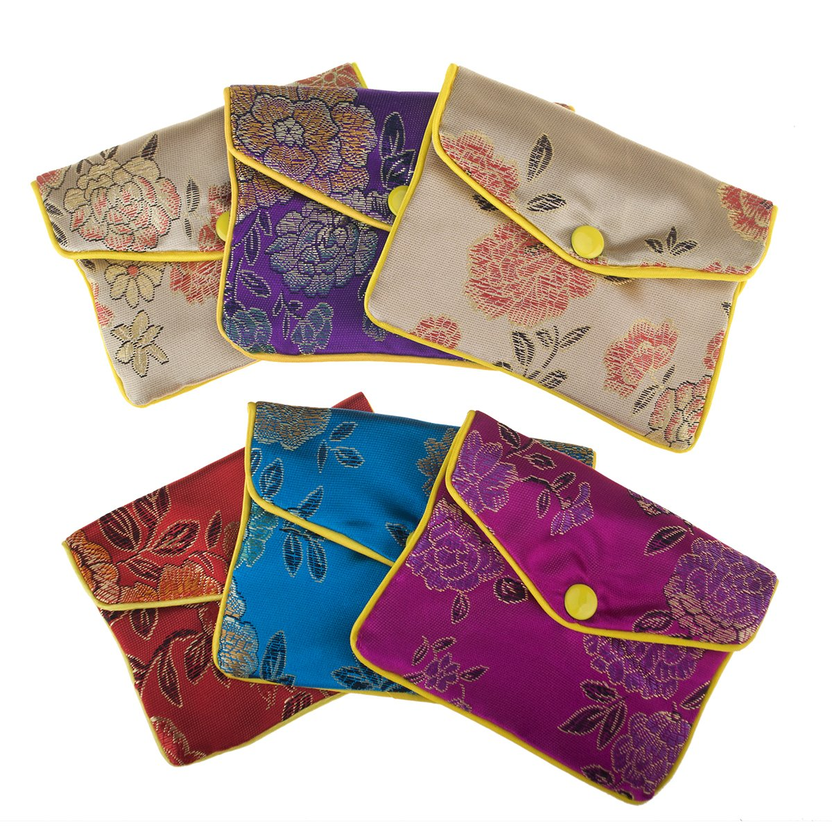 Aspire 120 Pieces Jewelry Pouch, Zipper Purse Gift Bags, Snap Closure - 3 x 4 Inch-Assorted
