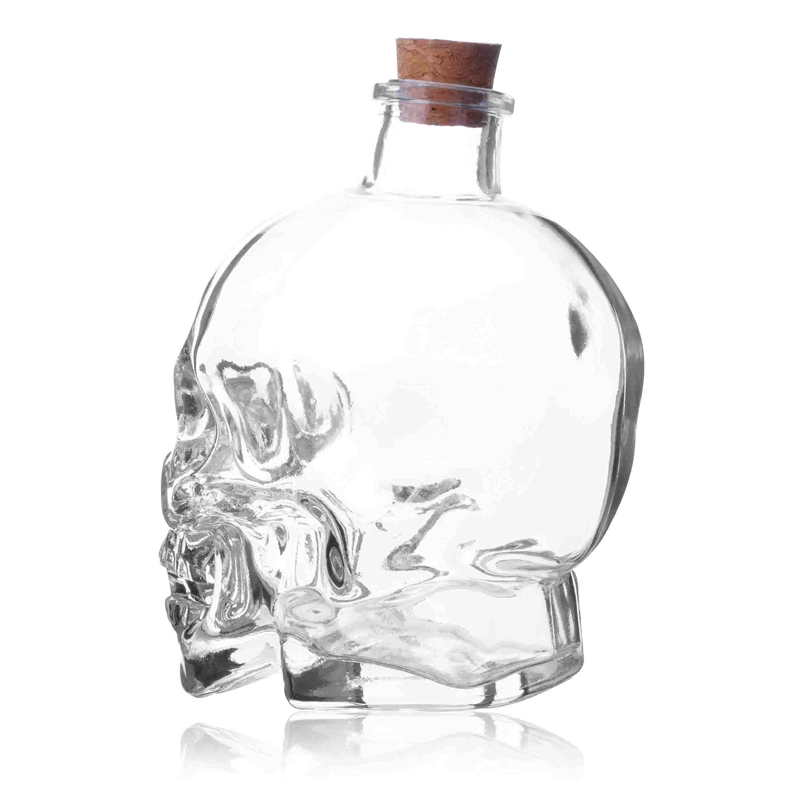 ✅Liquor Decanters Skull Bottle,Skull Decanter, Creative Vase Bottle, Wine Bottle Glass,Whiskey Bottle,Wine Carafe Decanter,750 ml Glass Bottles,Glass Kettle 25.6 Ounces