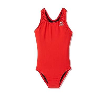 TYR Sport Girls' Solid Durafast Maxback Swim Suit