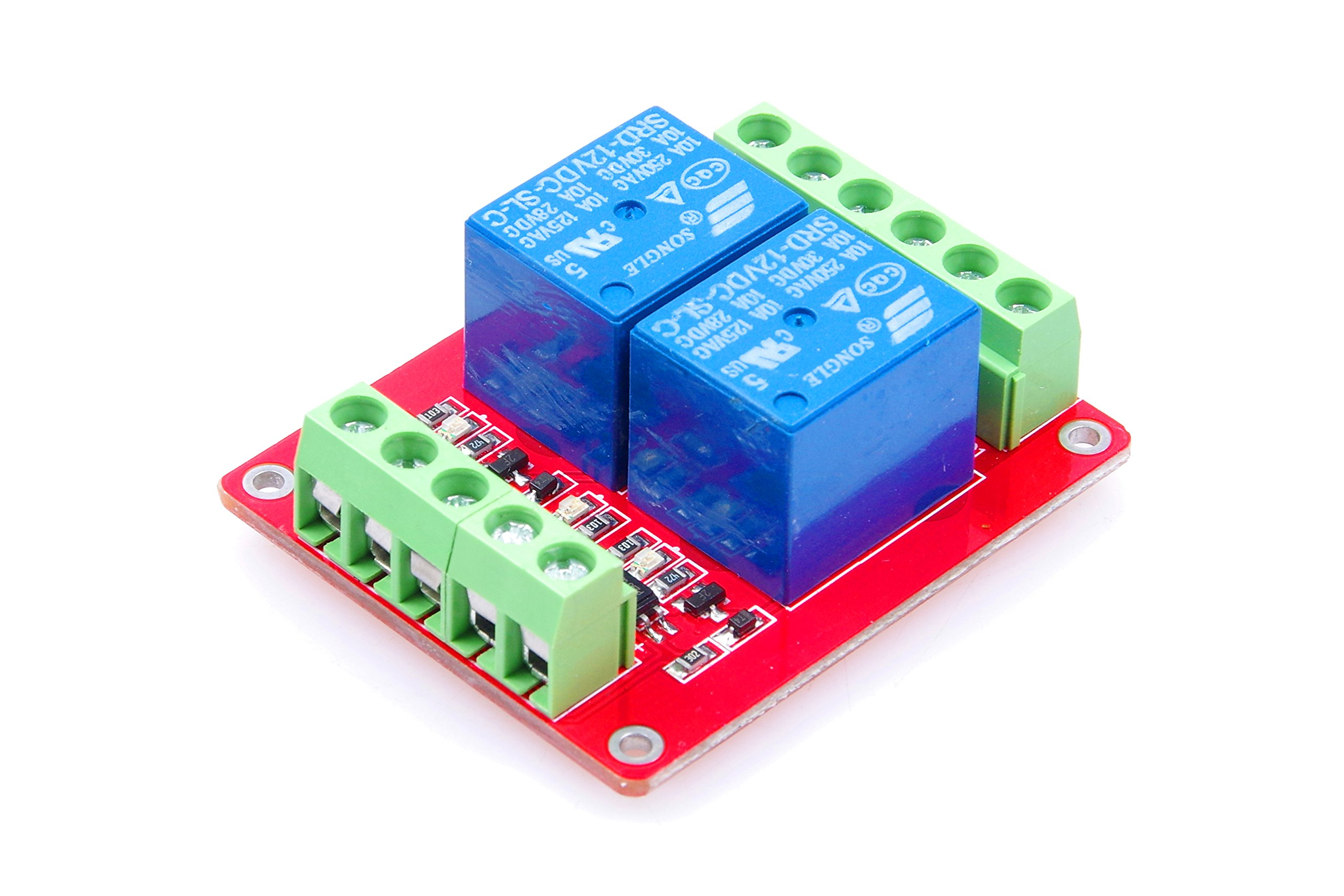 LM YN 2-Channel Relay Module Bidirectional Optocoupler Isolated High-Low Trigger With Indicator light for Arduino, Various Power Control Applications (12V)