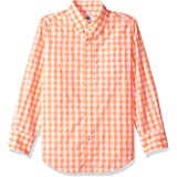Amazon/ J. Crew Brand- LOOK by crewcuts Boys' Long Sleeve Gingham Shirt