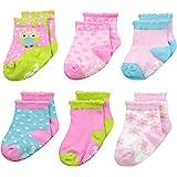 Little Me Baby Girl Socks, 6 Pack