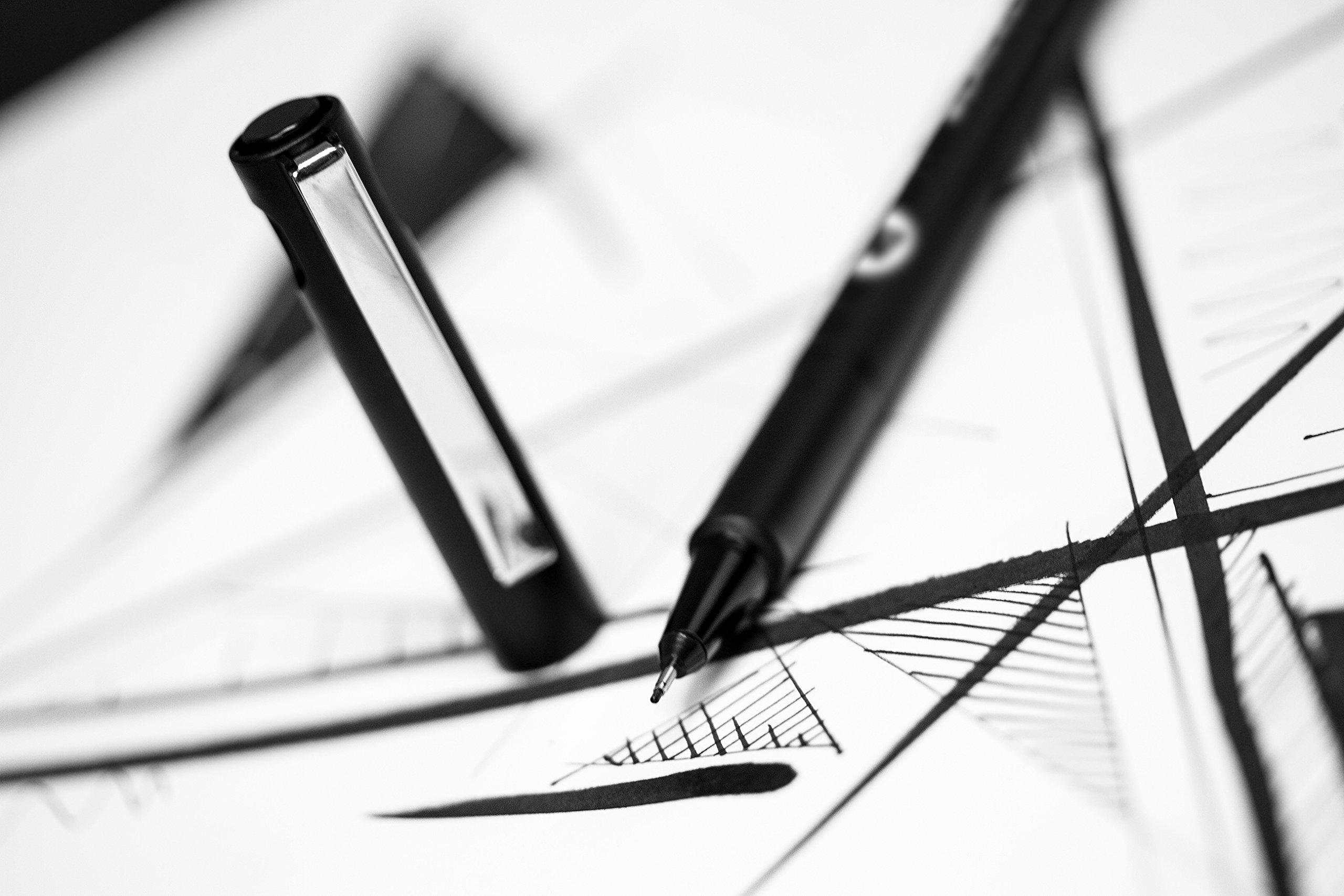 Molotow Blackliner Pen Complete Set, 11 Pens, 1 Set Each (200.485) by Molotow (Image #7)