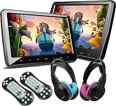 XTRONS Digital Screen Car Headrest DVD Player x2
