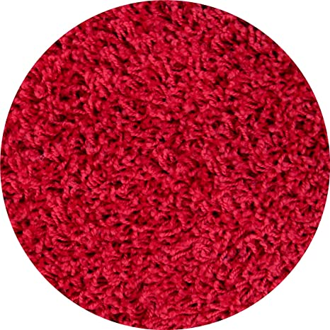 Amazon Com 2 Ft Round Red Frieze Shag Area Rug Carpet Area Rugs