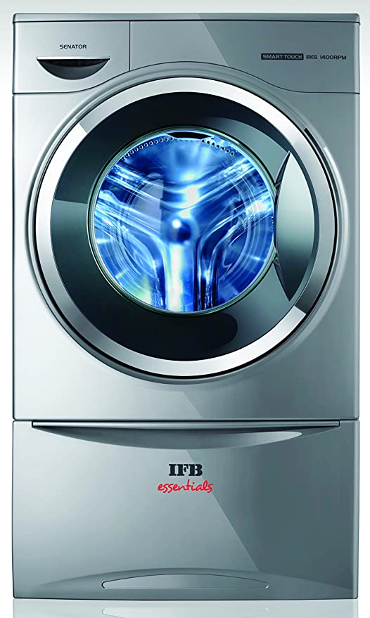 IFB 8 Kg Front Loading Washing Machine  Senator Smart Touch SX 8.0kg 1400 RPM, Silver  Washing Machines   Dryers