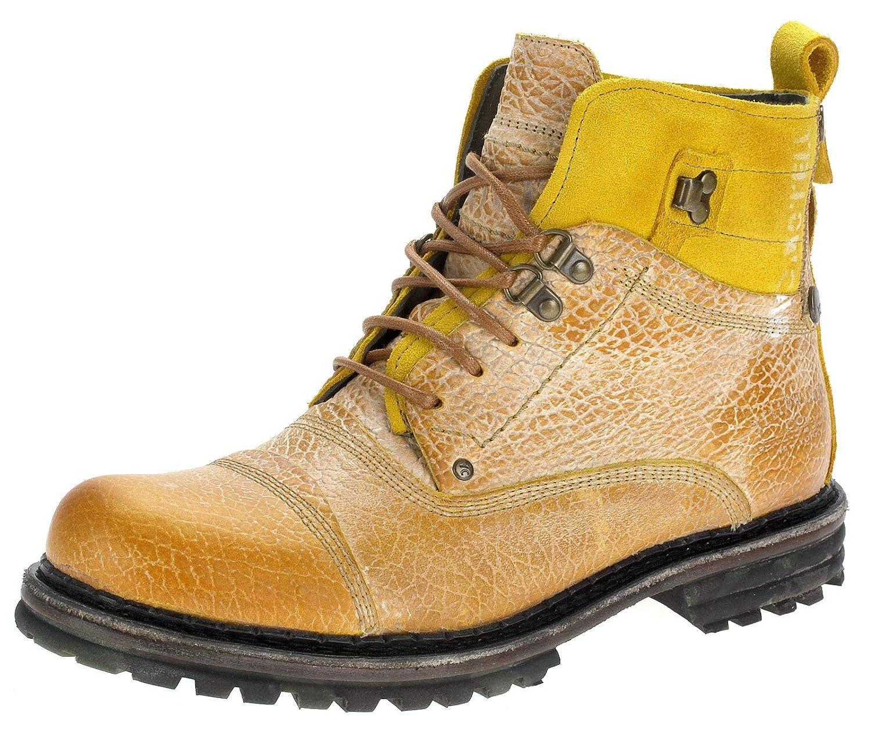 Yellow Cab Boots Leder Herrenstiefel 15438 Gelb (42): Amazon