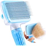 ACE2ACE Slicker Dog Brush, Pet Grooming Brush, Self Cleaning Shedding Grooming Tools, Gently Removes Dead Undercoat & Loose H