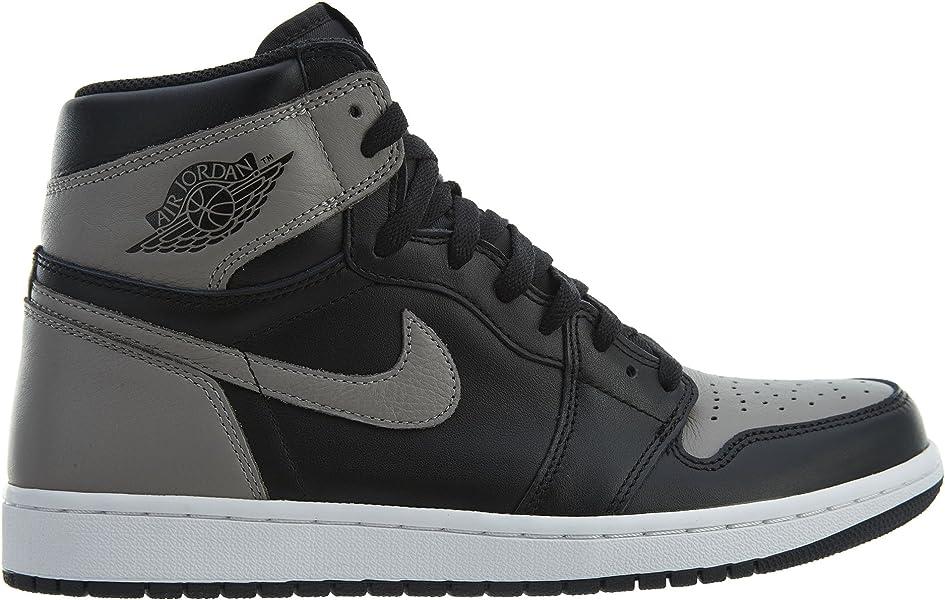 on sale c54f5 31d81 Nike Herren Air Jordan 1 Retro High Og Gymnastikschuhe Schwarz (Black Medium  Grey