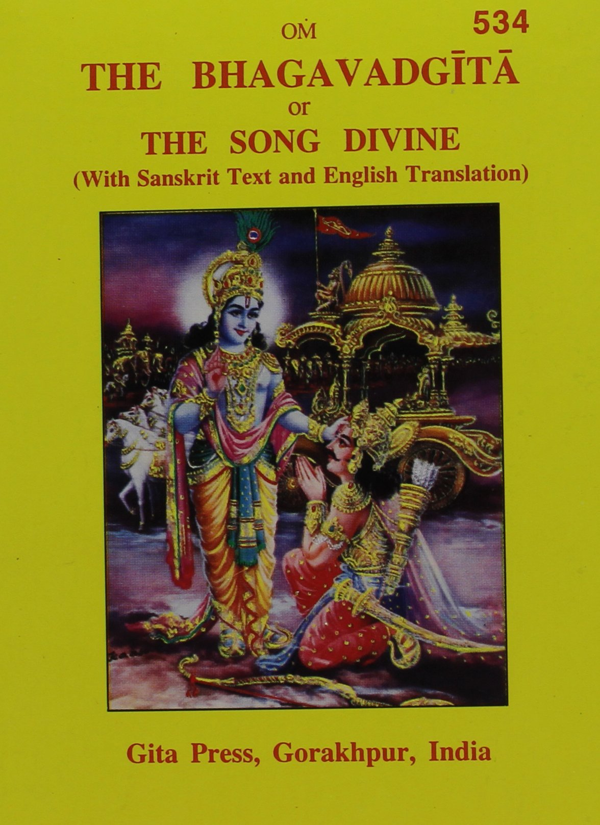 The Bhagavad Gita, or, the Song Divine (English and Hindi Edition