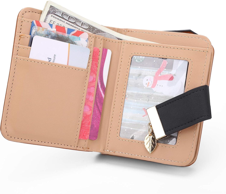 Yellow Womens Long Leather Card Holder Purse Zipper Buckle Elegant Clutch Wallet