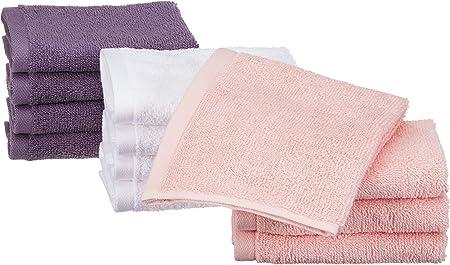 AmazonBasics - Toallas de algodón, 12 unidades, Rosa pétalo ...