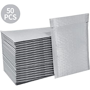98e4f01cee7 HBlife  0 6x10 Inches Poly Bubble Mailers Self Seal White Padded Envelopes