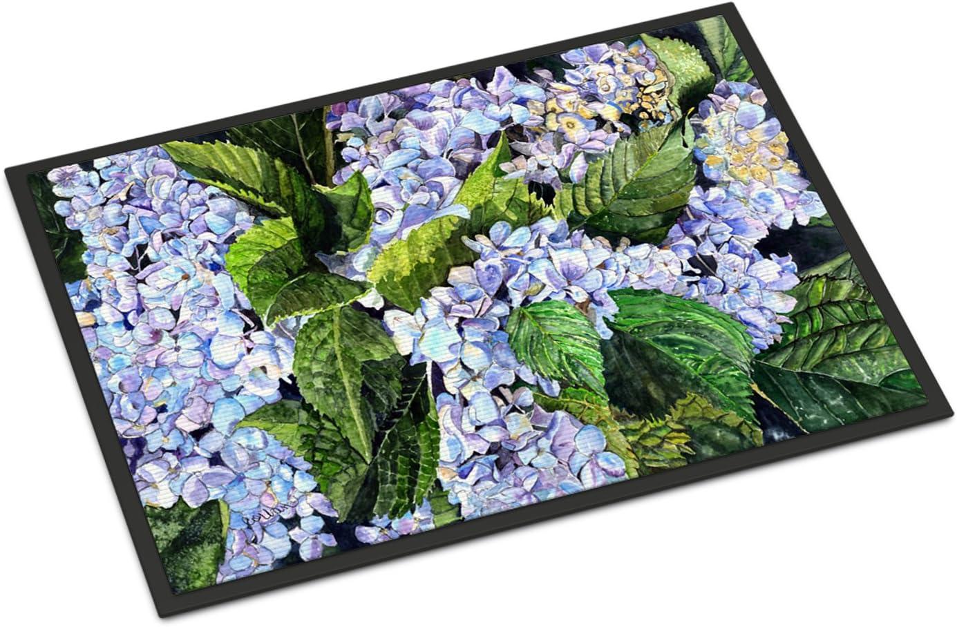 Caroline s Treasures 8730MAT Hydrangea Indoor or Outdoor Mat 18×27, 18H X 27W, Multicolor