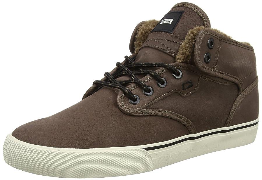 Motley Mid Shoes dark brown / off white / fur Globe dFA9MRf3fb