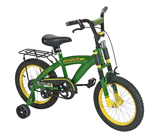 5bda72ec00b This bike features styling in classic John Deere green and a durable  heavy-duty steel frame. Front shocks provide a comfortable ride while the  front hand ...