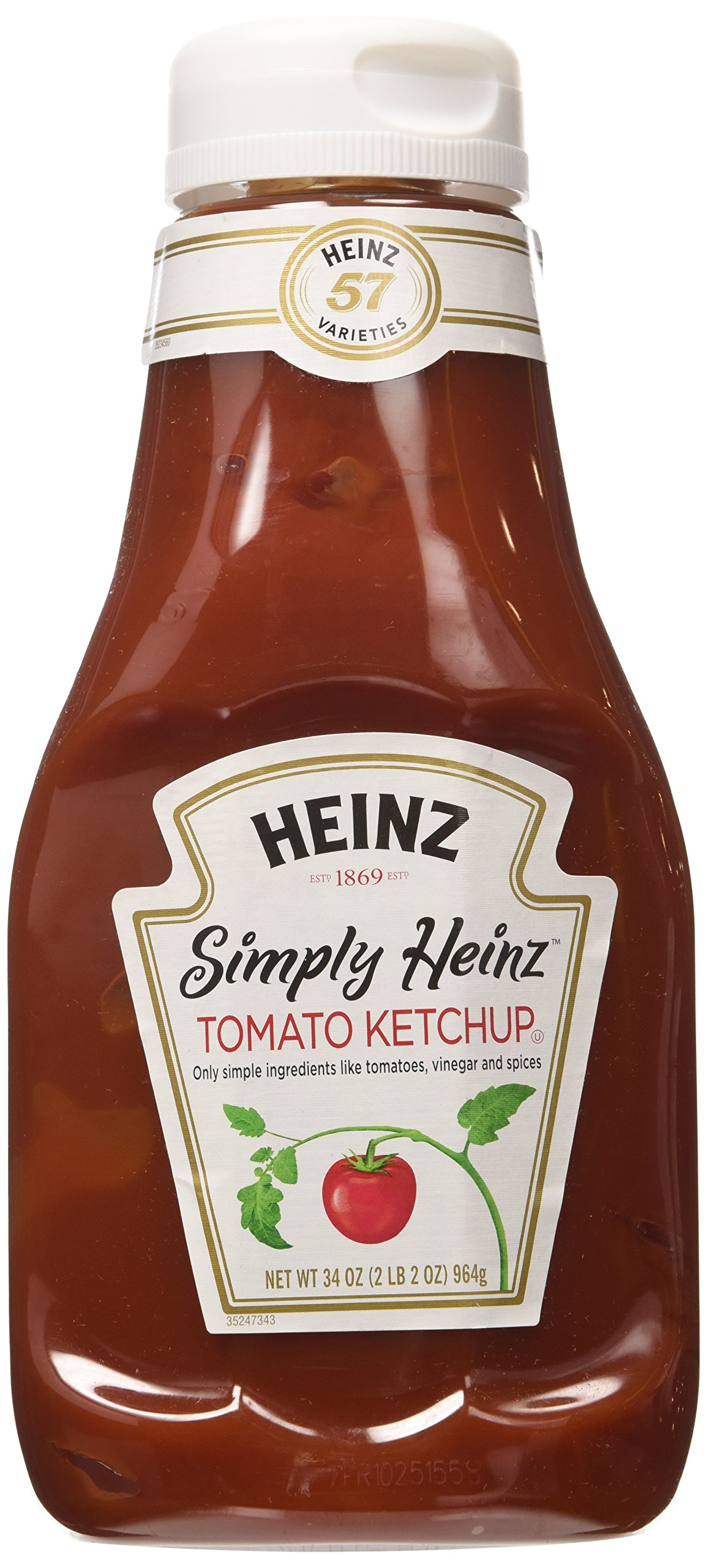 Simply Heinz Tomato Ketchup - 2 Bottles, 34 Oz. Each Bottle