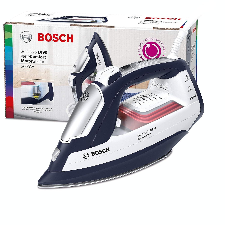 Bosch Electrom/énager TDI953022V Fer Vapeur Haute Pression 3000 W Magic Night Blue//Wei/ß