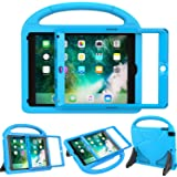 LEDNICEKER Kids Case for New iPad 9.7 2018/2017 - Built-in Screen Protector Light Weight Shock Proof Handle Friendly Convertible Stand Kids Case for New iPad 9.7 2017/2018 (ipad 5&6) - Blue