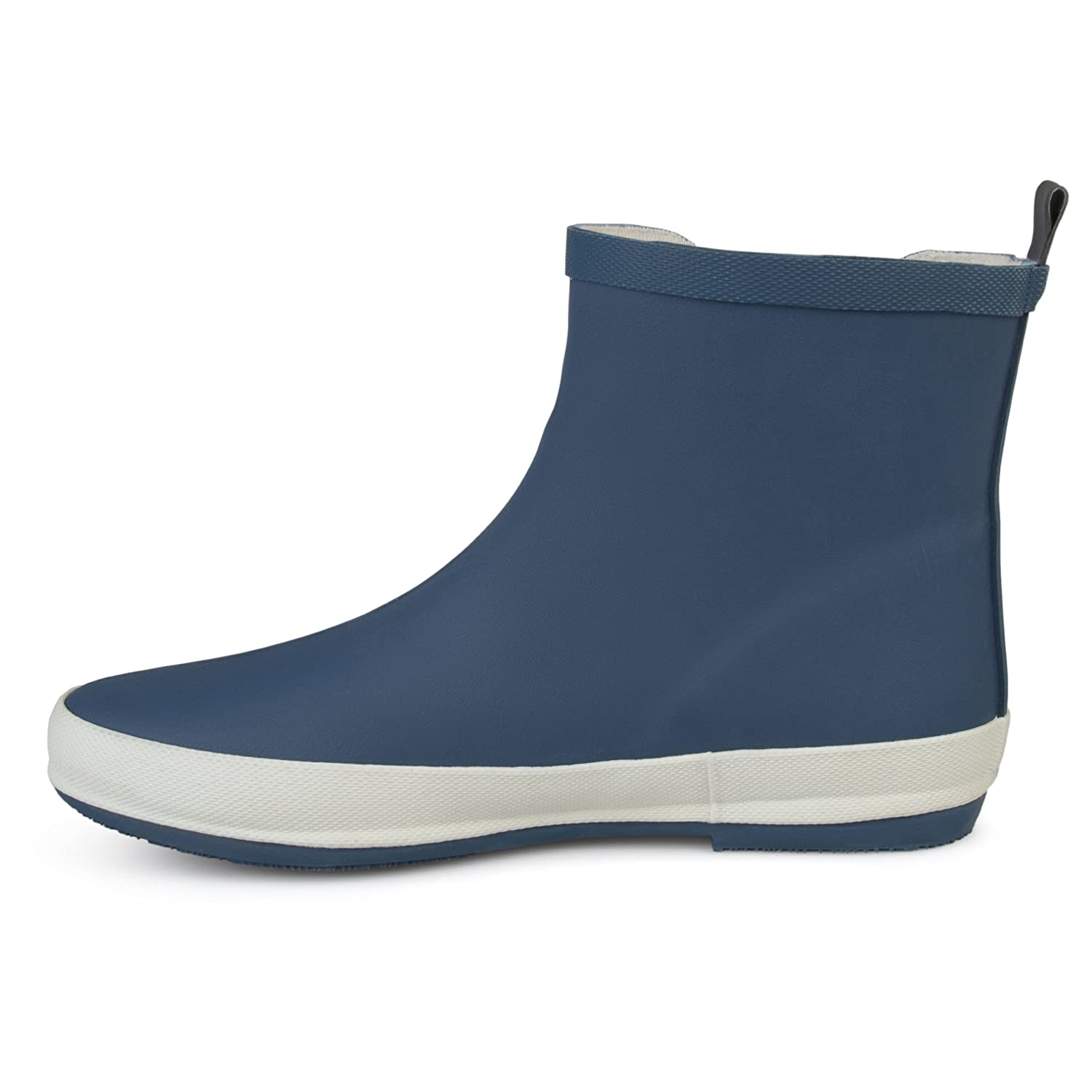 Brinley Co Womens Samar Rubber Sporty Solid Color Rainboots B0741DXBQQ 12 B(M) US|Navy