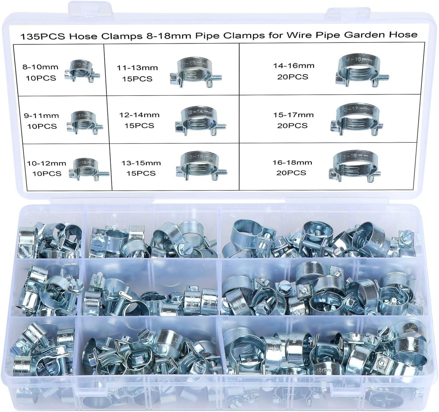 20 PCS 16-18mm FUEL INJECTION HOSE CLAMP AUTO Fuel clamps