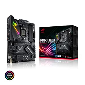 ASUS ROG Strix B365-F Gaming Support 9th/8th Gen Intel Processor with Aura Sync RGB, Dual M.2, DisplayPort, HDMI, DVI, SATA 6 Gbps and USB 3.1 Gen 2 ATX Gaming Motherboard