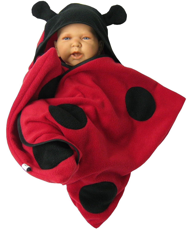 star fleece baby wrap stern schlafsack pucktuch swaddle marienkä fer