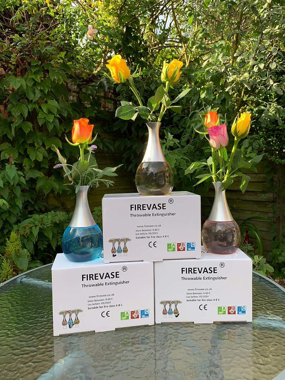 20.5 X 13.5 X 11.5cm 8 X 5.3 X 4.52 Rose FireVase Un Vase Qui /éteint Les incendies domestiques