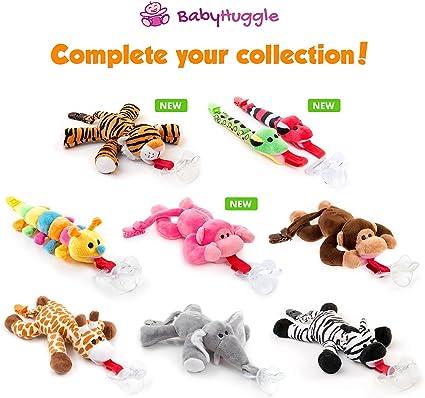 Chupete con tigre BabyHuggle - Chupeta con peluche para bebé ...