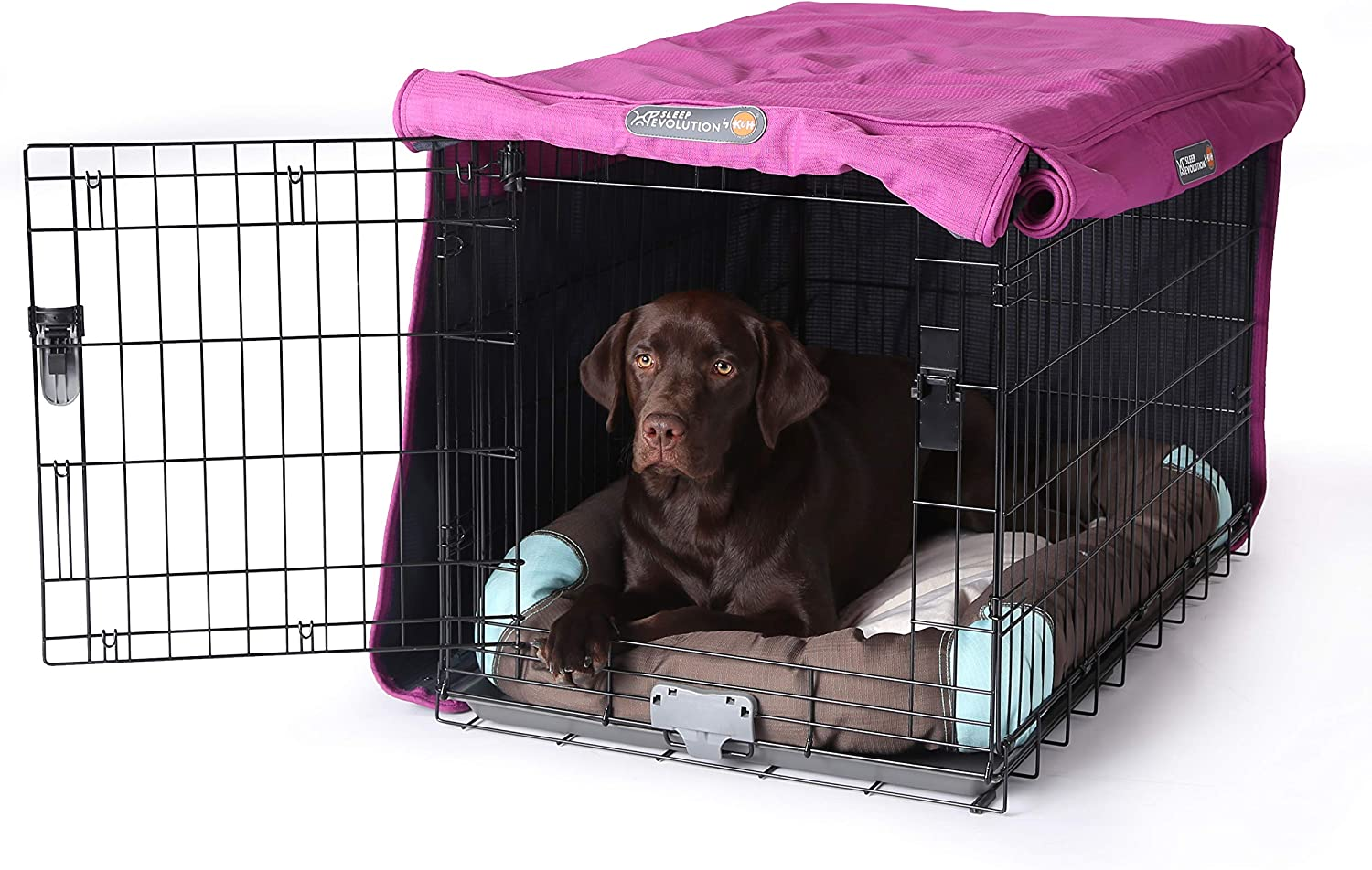 Tear Resistant Dog Kennel Covers Pet Progressions by K/&H Dog Crate Cover