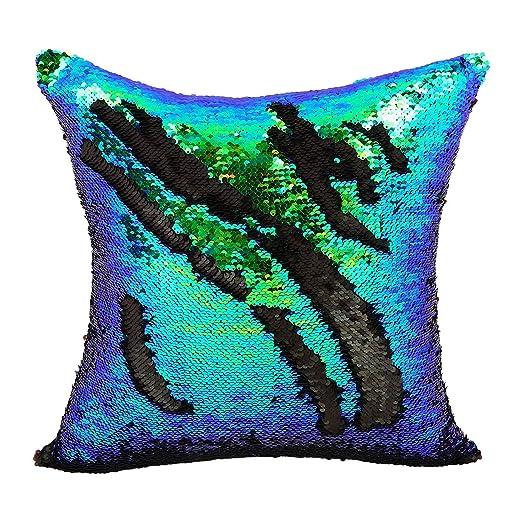 Ericcay DIY Dobles Colores Lentejuelas Fundas De Cojines ...