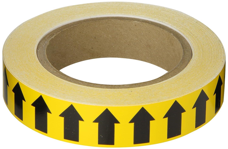 B-946 High Performance Vinyl Brady 91420 2 Width 90 Length Black On Yellow Color Arrow Tape
