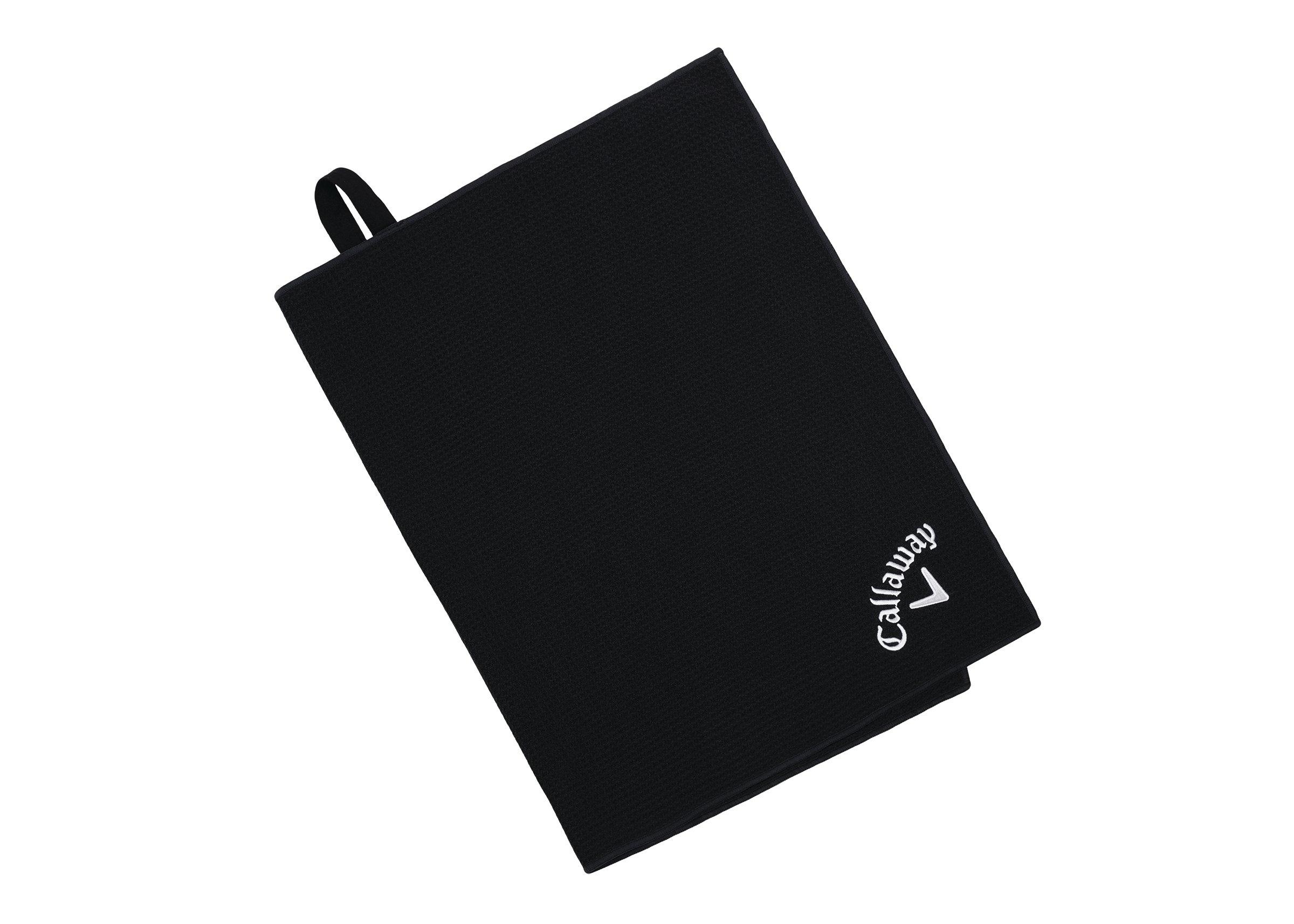 Callaway Golf 2017 Microfiber Players Tour Towel, Black, 20 x 30 by Callaway