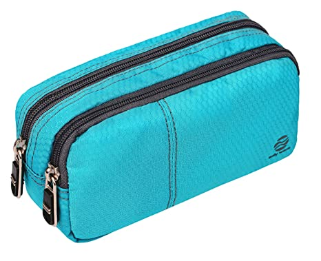 Big Capacity Pencil Case Pencil Bags With Zipper Durable Soft Fabric Pencil Pouch For Teen Girls Office Ladies Green 60 Pens By Only Warm