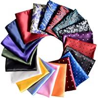 Pocket Squares for Men 20 Pack Mens Pocket Squares Set Assorted Colors with Gift Box