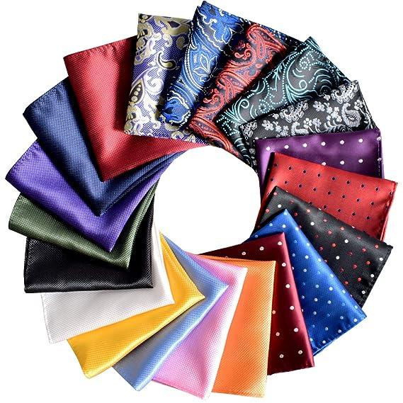 Pocket Squares for Men 20 Pack Mens Pocket Squares Set Assorted Colors with Gift Box best pocket squares