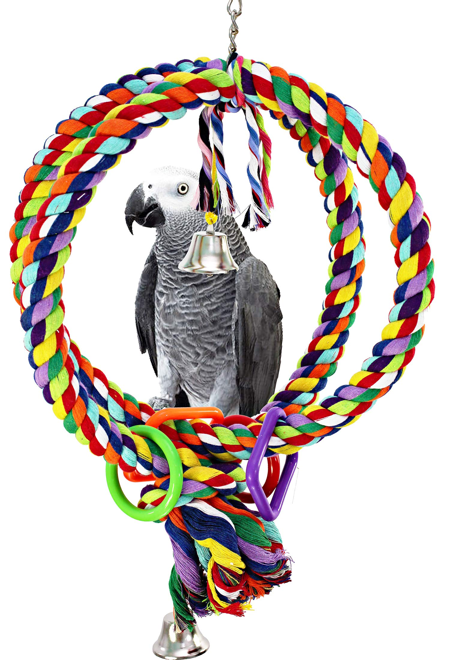 Bonka Bird Toys 1036 Globe Rope Ring Swing by Bonka Bird Toys