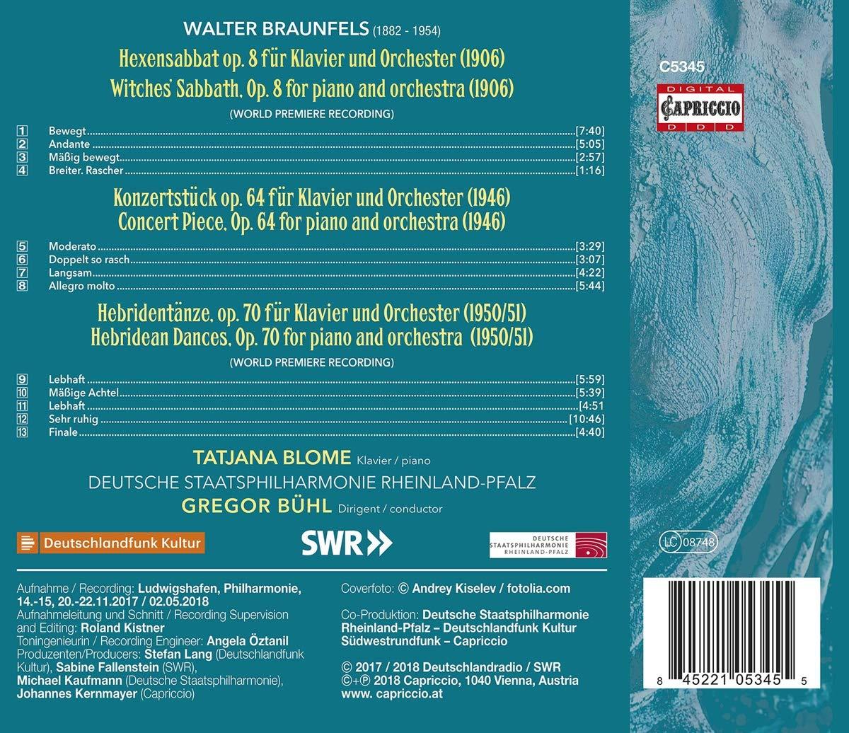 Werke Für Klavier und Orchester - Tatjana Blome, Gregor Bühl, Dt ...