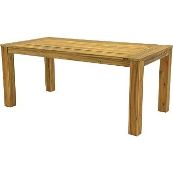 Table de jardin Table Serra bois dur d\'acacia Look teck avec pied à ...
