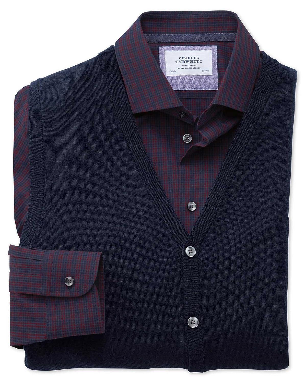 Charles Tyrwhitt Navy merino wool waistcoat