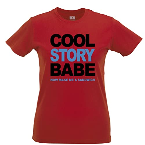 Cool Story Modella Ora Make Me A Husband Sandwich regalo Boyfriend T-Shirt Da Donna