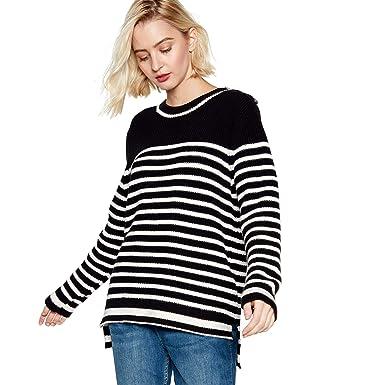 14c56a310f4f0a Nine by Savannah Miller Womens Black Striped Jumper: Nine by Savannah  Miller: Amazon.co.uk: Clothing