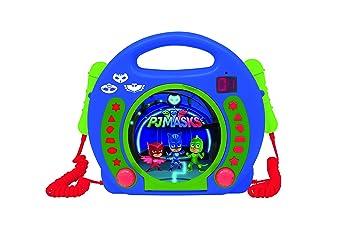 Pj Mask Lector CD Portátil con 2 Micros (Lexibook RCDK100PJM)