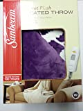Amazon Com Sunbeam Microplush Heated Throw Pink Tsm8us