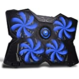 MARVO FN-30 15 - 17 inch Gaming Laptop Cooling Stand Powerful Cooling Pad 4x120mm Blue LED Light Fan with HUB,Speed Controller,Adjustable Height Setting