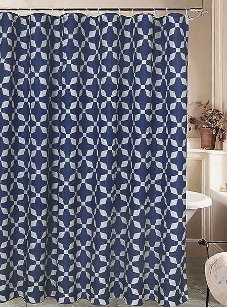 Style Avenue QuotNave Geoquot Printed Canvas Shower Curtain 70quotx72quot