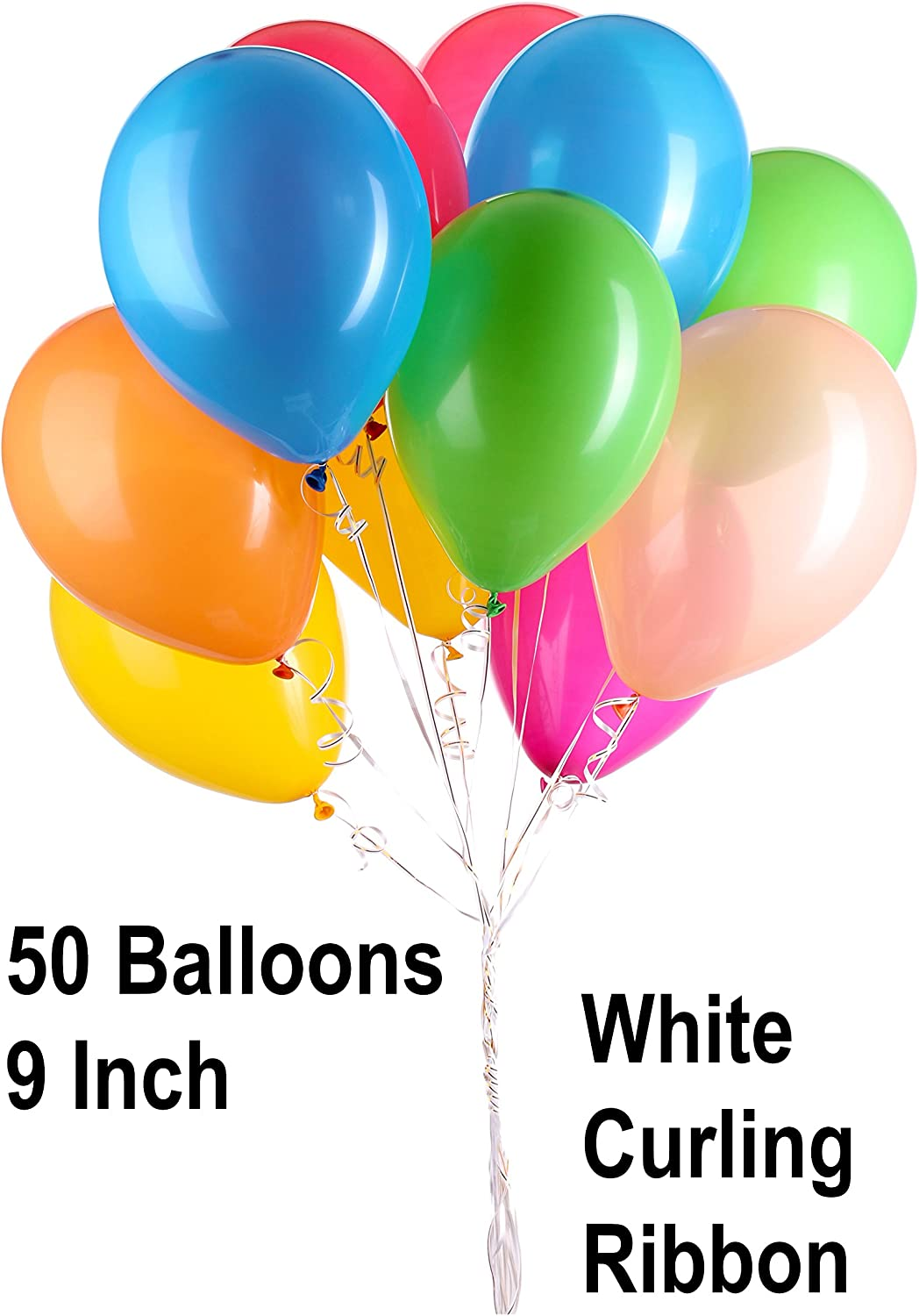 Helium Balloon Pump Tank for balloons 12 Balloon Weights White Curling Ribbon